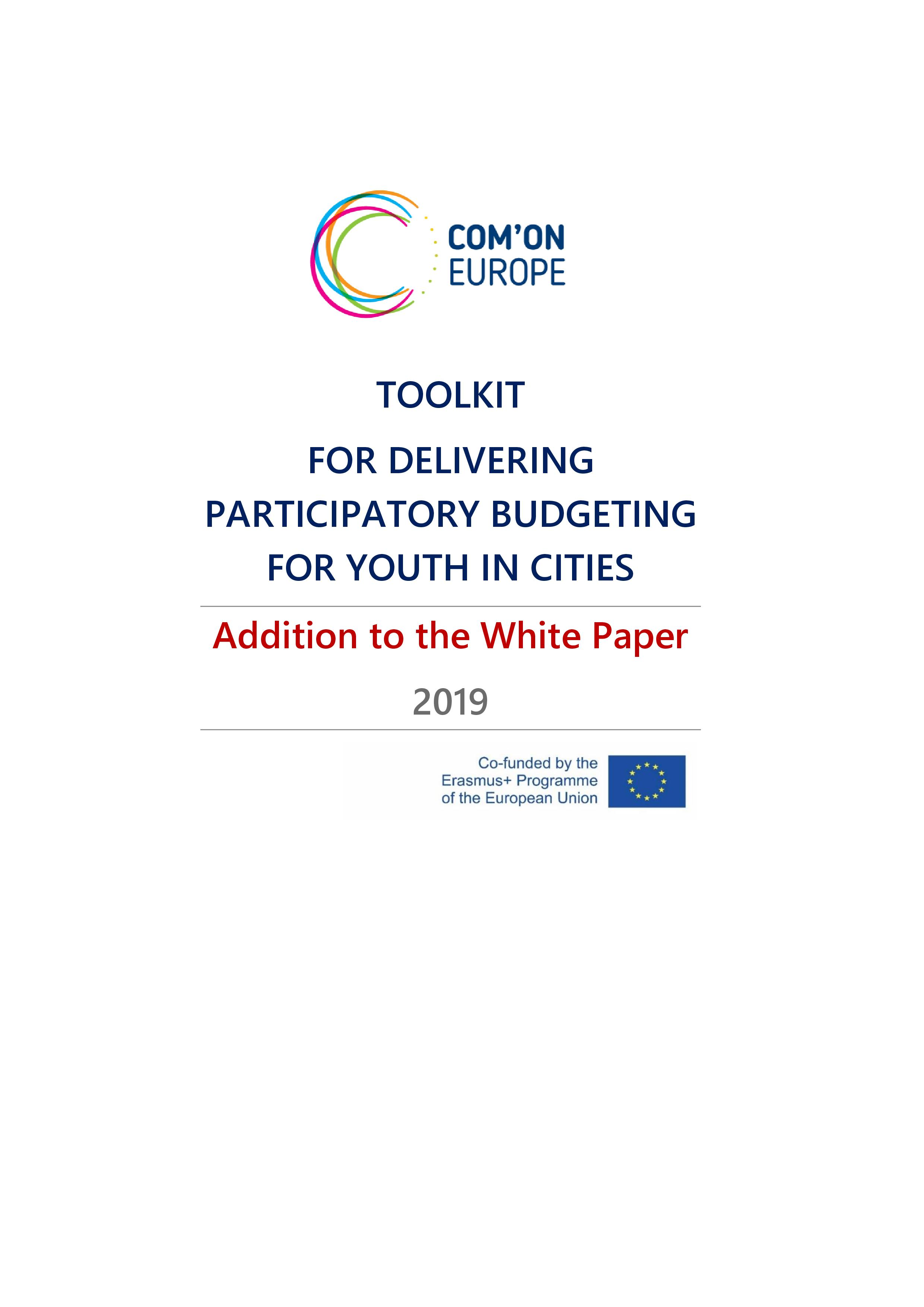 Toolkit For Delivering Participatory Budgeting For Youth In Cities - Addition To The White Paper